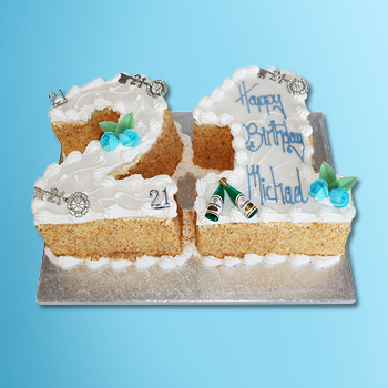 Double Figure Number Cake